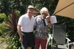 End of year President's 'At Home' BBQ - John Coles and President Richard Ward