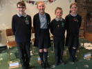 Wigan Rotary Junior Speaks 10th Anniversary Celebrations -   The Winning Team Standish St. Wilfred's Academy PS Kieran, Annika, Alex and Grace