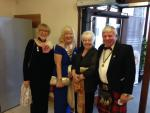 Sylvia Kelly, President Anne Hill, Ann Knox and President Elect Bill Knox