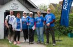 Walkers supporting MND UK.