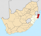 Natal shown within South Africa