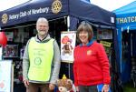 Newbury and Thatcham Rotary Clubs at the Berkshire Show - President Kath and Vice-President Graeme manning the stand at the show