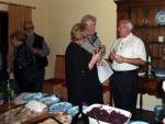 Bavarian wine tasting and buffet evening - Genial host Martin with guests - and buffet....