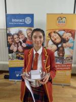 The Winner - Manaal Shah of  Craigholme School