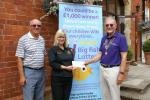 A Cheque from President Chris to St Andrews Hospice