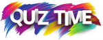 Words Quiz Time on a multicoloured background
