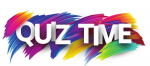 The words Quiz Time on a colourful background
