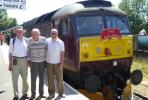 Rotarians' (Lads') Day Out! - Stuart Ross, Brian James and Graham Harrison pose by