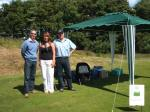 Charity Golf Day -  Robert, Shiona and Brian at the Beer Tent