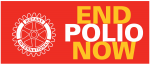 End Polio Now banner