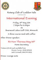 International evening with Theresa May