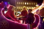 Santa greets the children at Brightlingsea Late Night Shopping