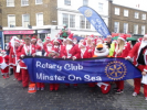 The Santa's ready to start the parade around Sheerness