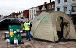 Rotary ShelterBox Collection at the Thame Town Hall with Jeannette Matelot Green, town's popular Mayor and also Rotary Club member, helping with the collection.