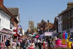 2018 St George's Day Celebrations - Pinner High Street in the sunshine