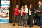 Junior Youth Speaks Competition 2018 - The winning team, St Mary's Purton, receive the cup