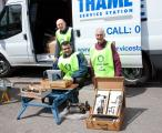 Rotary Club of Thame's Collection of Unwanted Tools - Erroll visiting TSFR HQs