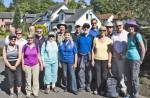 Sponsored Walk for WaterAid - About to leave Valleyfield, Penicuik at 10:00.