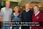 2013 Ultimate Quiz - President Donald (right) with Peter Bell and other members of the Campion Crocks team