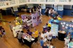 Turning Purple for Polio at Oxfordshire Science Festival - The Explorazone at Oxford Town Hall