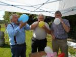 WINDBAGS - possibly the perfect choice of Rotarians to blow up the Balloons prior to the start of proceedings - Garet R, Alwyn & Elfed