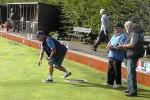 Wirksworth Rotary flat green bowlers in action