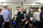 Annual Burns Supper 15th January 2020 - Wullie Prentice piping and Alec Waugh presenting of the Haggis.