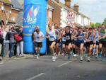 Photograph shows the start of the Horndon 10K Race in 2012.