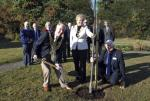 Tree Planting Ceremony with RIBI President David Fowler, Mayor of Woodley Kay Gilder and President Derek Murphy.