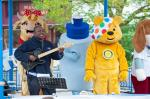 Mascots Storm Carfax Bandstand in Pudsey & Pals Party for Children in Need