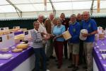 Club President Chris Stilton .. holds a stilton!