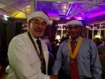 Club Christmas Night - President Dave Neville and Vice-President Dr Mathew Thomas in the Christmas spirit