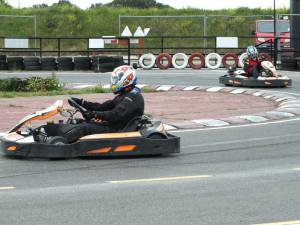 Kart raceing at Ellough Racetrack