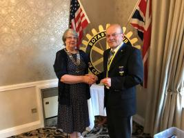 Change of Guard at Rotary in Castle Donington