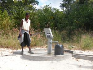 President Roger goes to Zambia to inspect Water Wells funded by our District 1080 including Woodbridge Club
