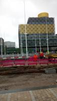 Currently the Library of Birmingham is surrounded by a construction site on Centenary Square but this area will be lovely when completed.