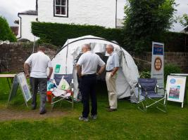 Shelter Tent on show at Comrie Fortnight opening