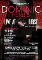 DOMINIC FERRIS LIVE AT HURSTPIERPOINT COLLEGE