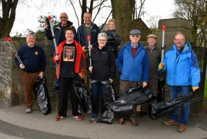 Clitheroe Castle Litter Pick