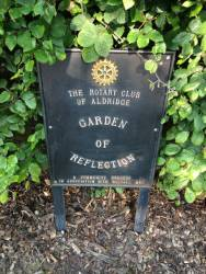 Garden of Reflection Plaque