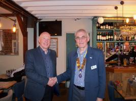 Paul Craggs is inducted as a member