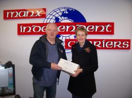 Rushen & Western Mann Rotary Club Shoebox Appeal gets support from St John