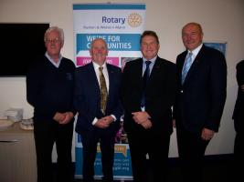 Rotary supports the new Quiet Room at Ronaldsway Airport, Isle of Man.