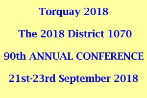 District Conference Torquay
