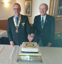 President David Laing with Dundee Rotary Club
