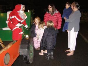 Santa is making his rounds in the Settle area.