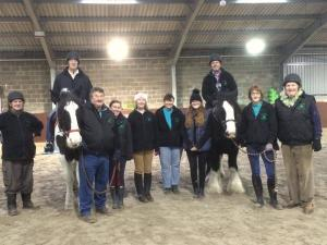 Brae riding trainers with Rotarian volunteers