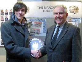 Presentation of Shield to Marches School for Rotary