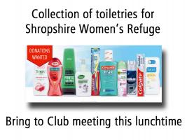 Collection of Donated Items for Shropshire Women's Refuge