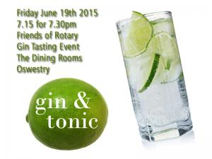 Friends of Rotary - Gin Tasting - 7.30 The Dining Rooms